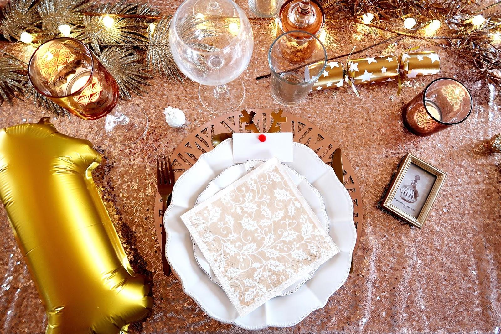 Ma décoration de table pour le 27 Décembre (1 an de Lyanna)