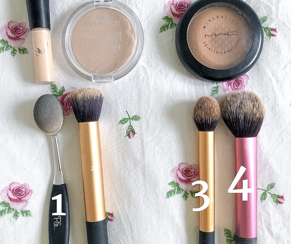 pinceau make up routine