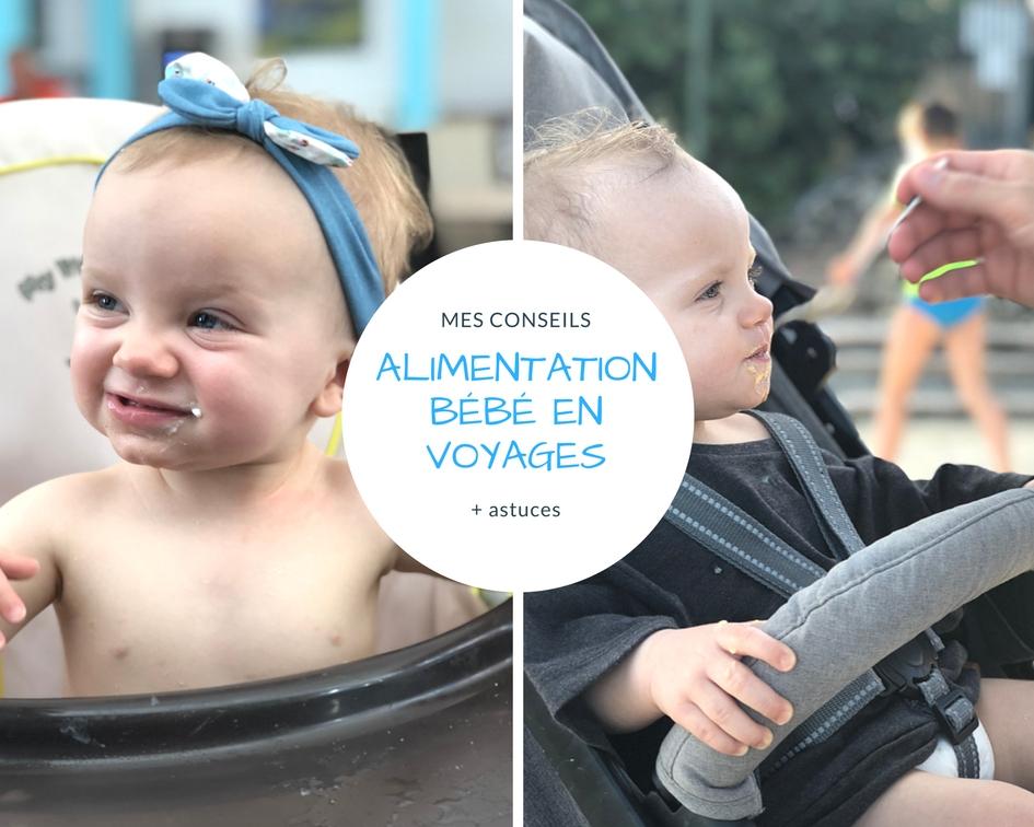 Mes conseils sur l'alimentation de bébé en voyages (avion)