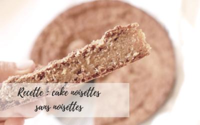 Gâteau aux noisettes sans noisettes
