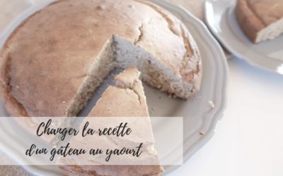 Changer la recette d'un gâteau au yaourt